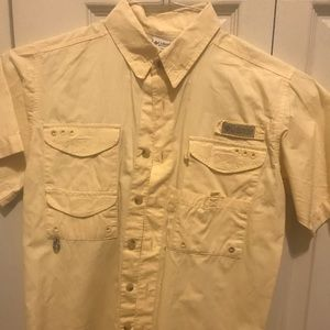 Columbia PFG YM button down shirt